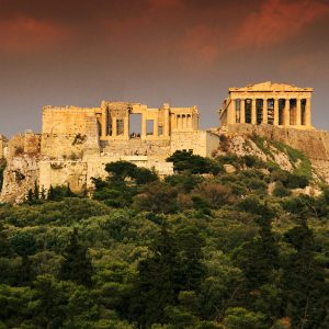 Exterior of the Propylaea and the Parthenon 7th century B.C. Athens, Greece